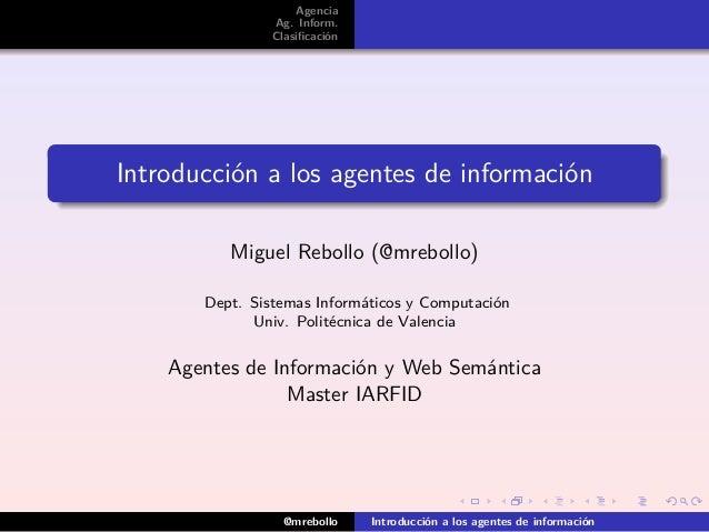 introducción a los agentes de información