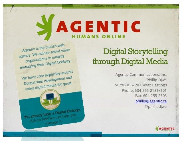 Agentic Digital Storytelling deck for Net Tuesday