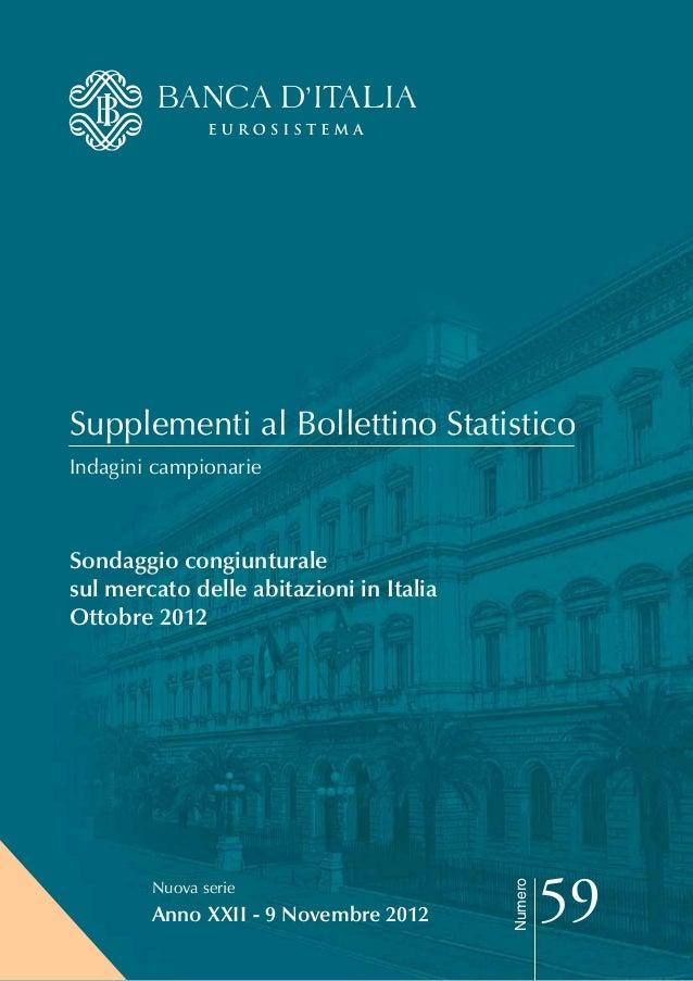 Sondaggio sul mercato delle abitazioni in Italia