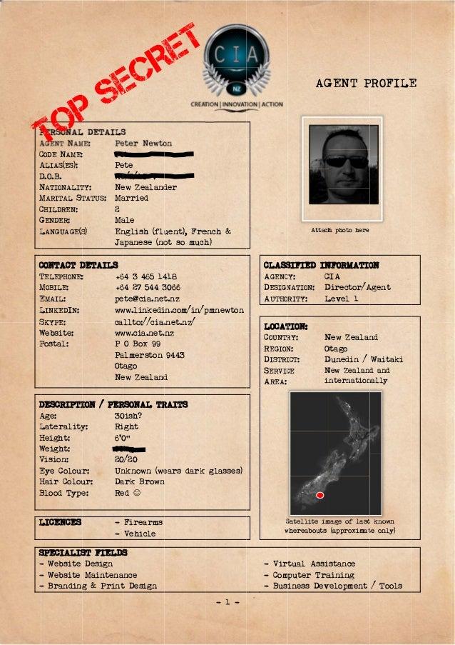 cia - agent profile
