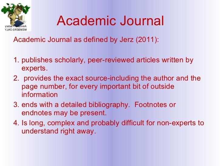Academic journal writing