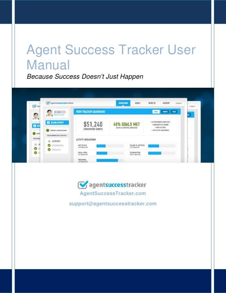 Agent success tracker user manual