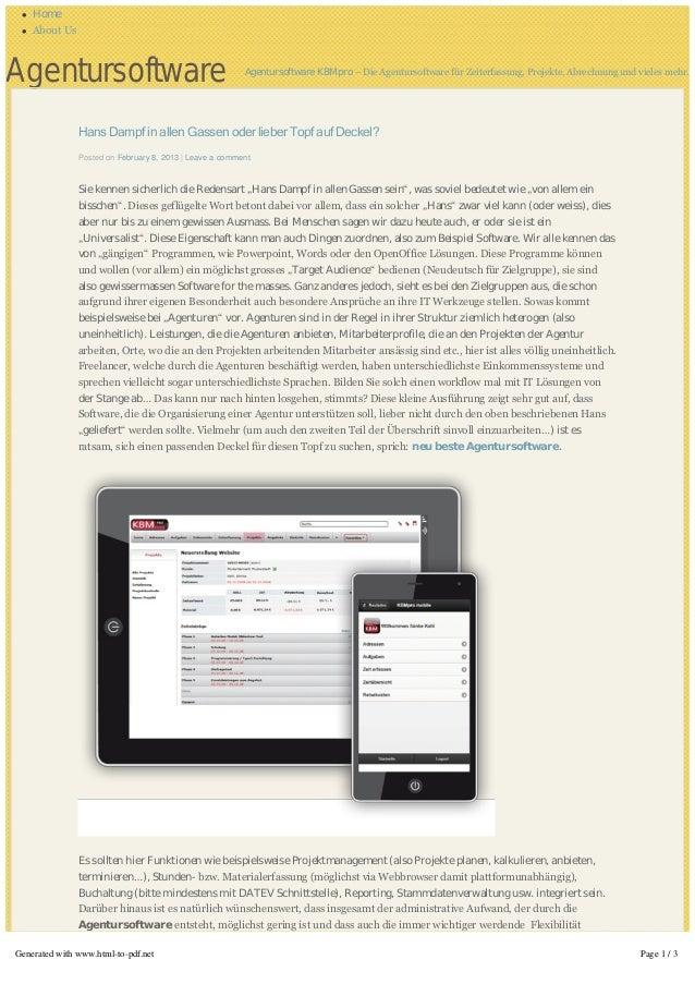 l   Home l   AboutUsAgentursoftware                                           Agentursoftware KBMpro – DieAgentursoftwar...