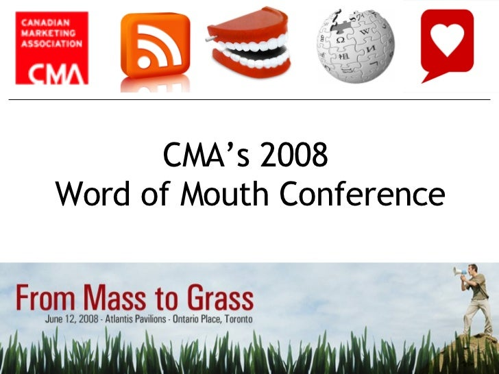 From Mass to Grass Word of Mouth Conference - Chair Intro Slides (Agent Wildfire & CMA)