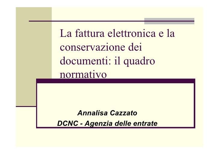 Quadro normativo della Fatturazione Elettronica in Italia