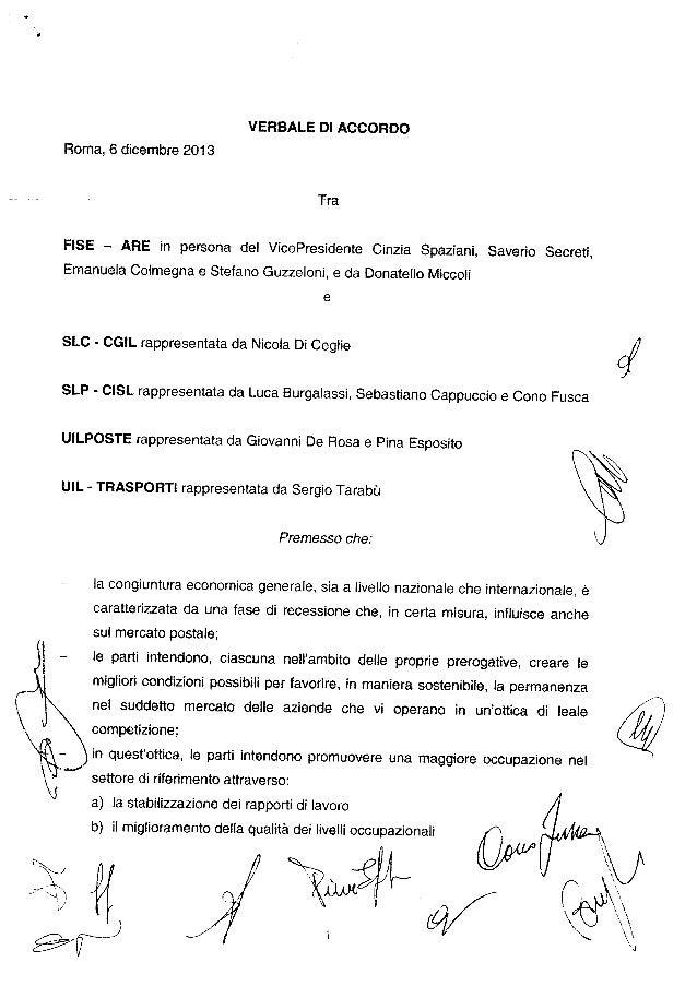 Accordo Agenzie Recapito