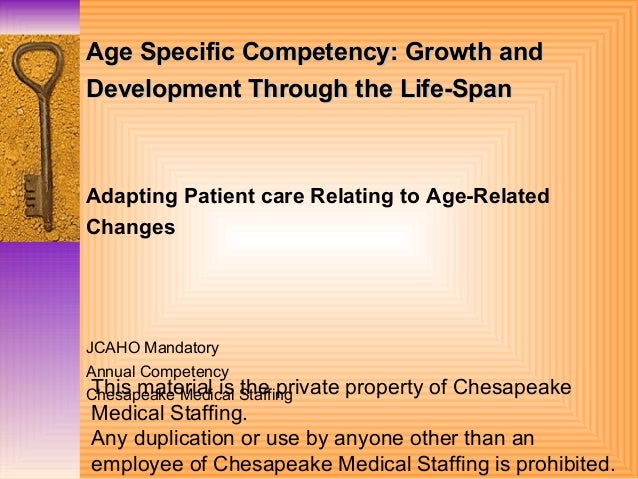 Age Specific Guidelines