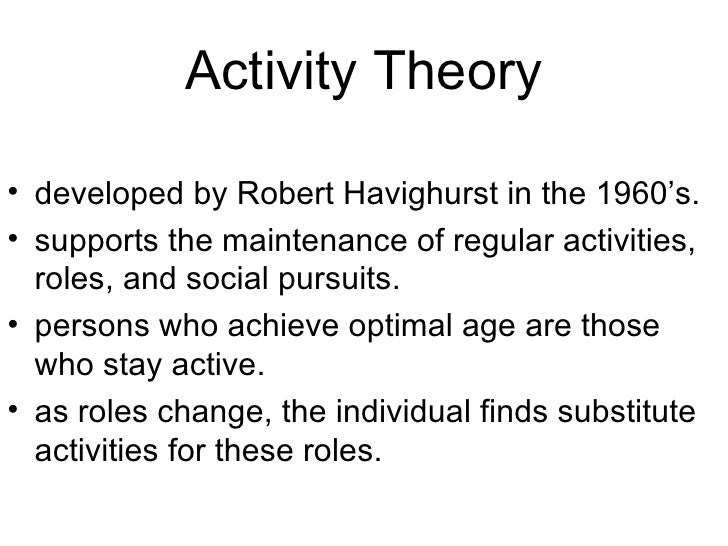 activity theory of aging