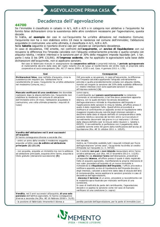 Agevolazione prima casa decadenza dell 39 agevolazione - Agevolazione acquisto prima casa ...