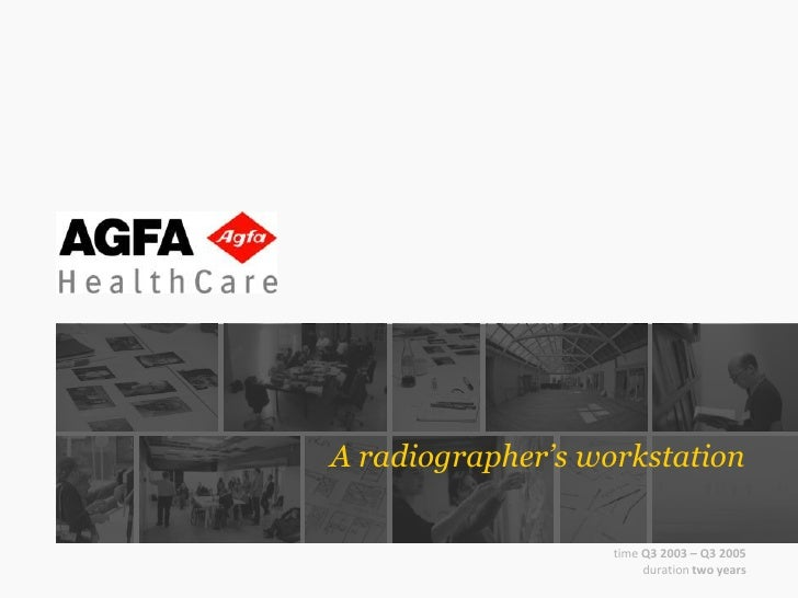 A radiographer's workstation