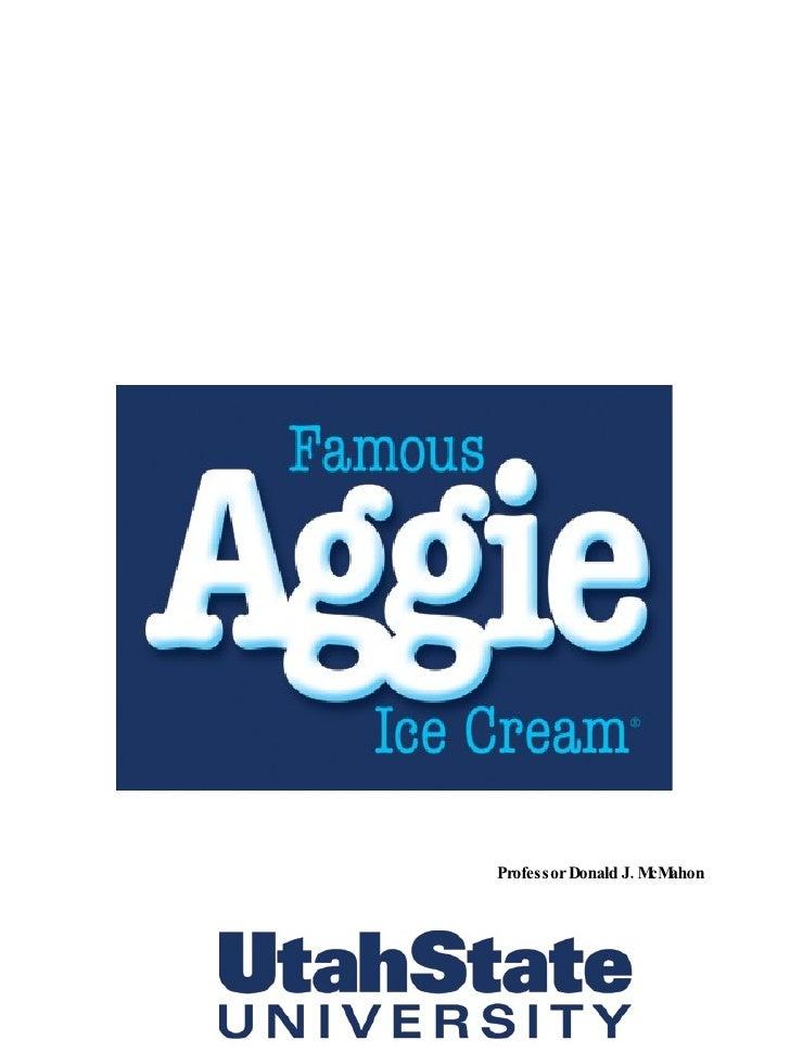 Aggie Ice Cream History