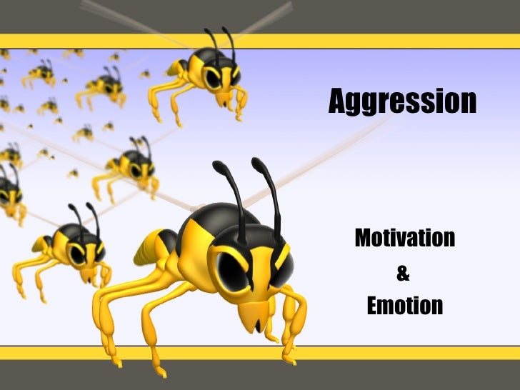 Aggression Motivation &  Emotion