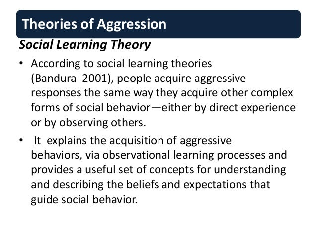 how social learning and aggression affects Education in ways that affect their social and cognitive development a recent meta-analysis of research on programs focused on social and emotional learning (sel) relationships between teachers and students, and a decrease in problem behavior (durlak, weissberg, dymnicki, taylor.