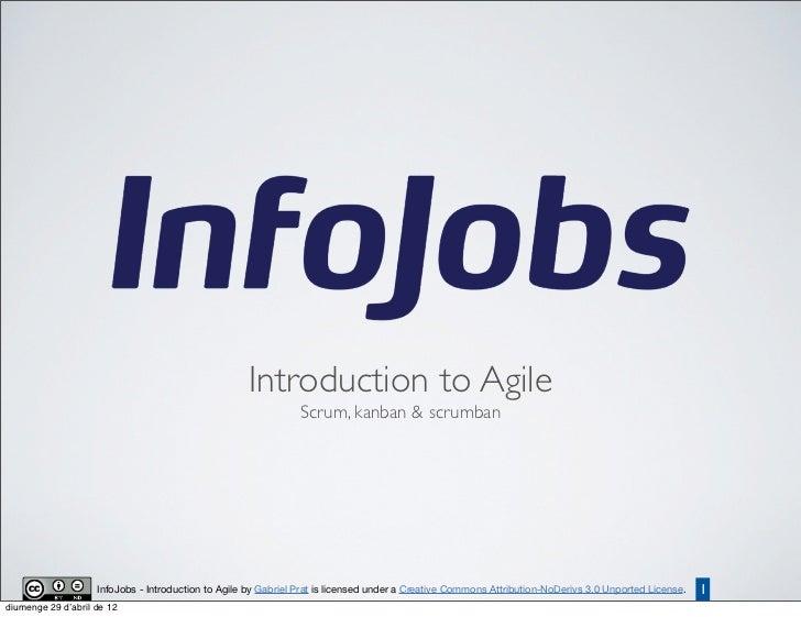 Introduction to Agile                                                                Scrum, kanban & scrumban             ...