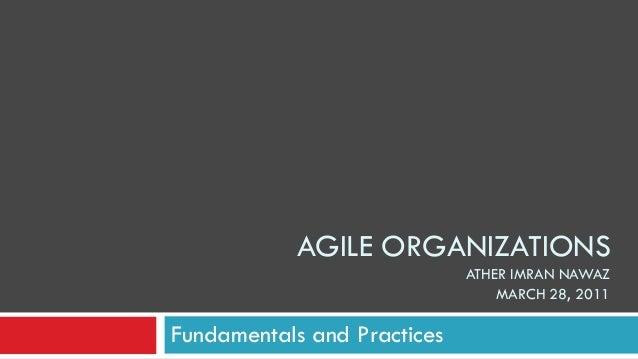 Agile Organizations
