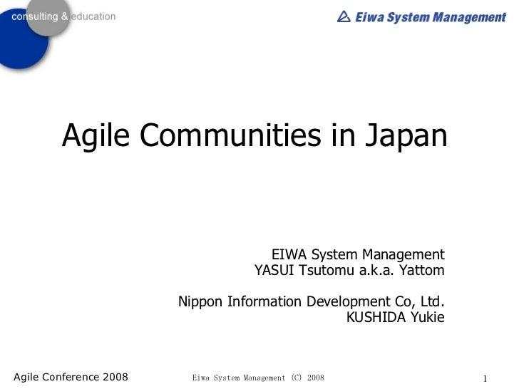 Agile Communities In Japan