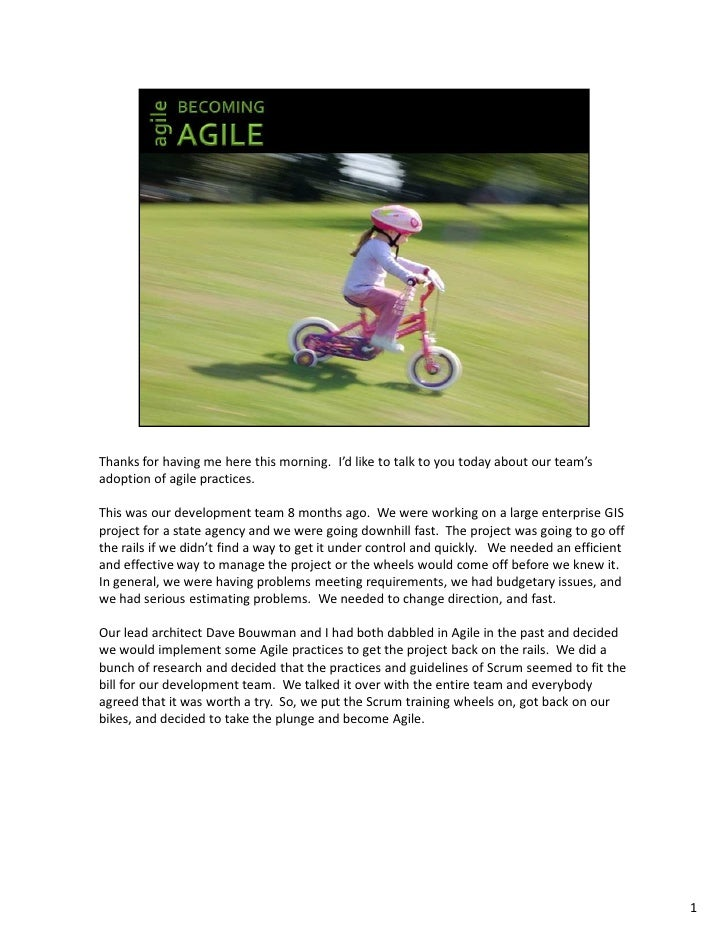 Agile Development Practices Conference - December 2007 - PDF with Notes