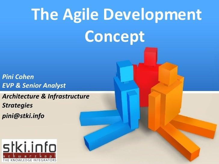 The Agile Development Concept  Pini Cohen EVP & Senior Analyst Architecture & Infrastructure Strategies [email_address]