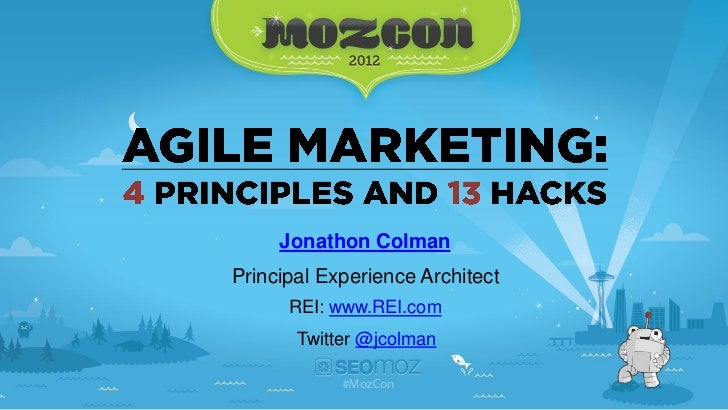 Jonathon ColmanPrincipal Experience Architect      REI: www.REI.com       Twitter @jcolman