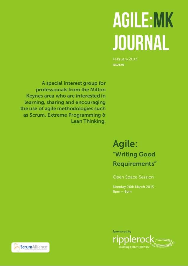 Agile:MK           December 2012                                        Journal                                        Feb...