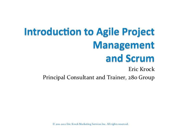 Agile Project Management and Scrum Introduction