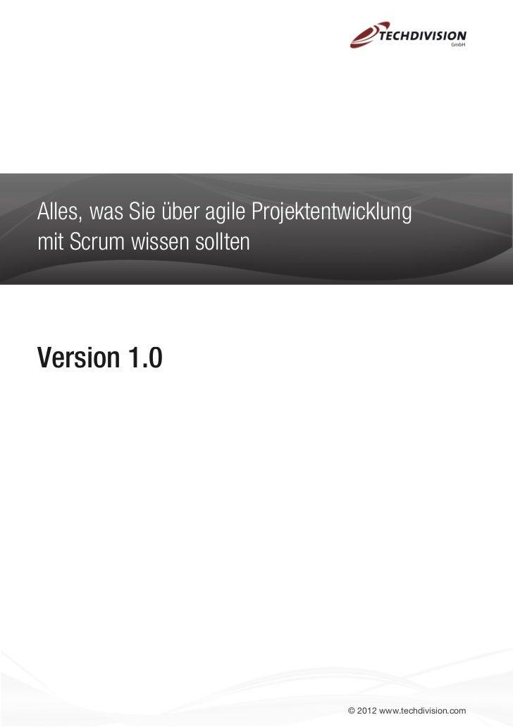 Alles, was Sie über agile Projektentwicklungmit Scrum wissen solltenVersion 1.0                                    © 2012 ...