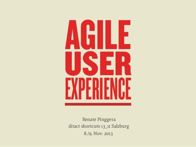 Agile UX, Ideation and Scrum Workshop, ditact Nov 2013 (German)