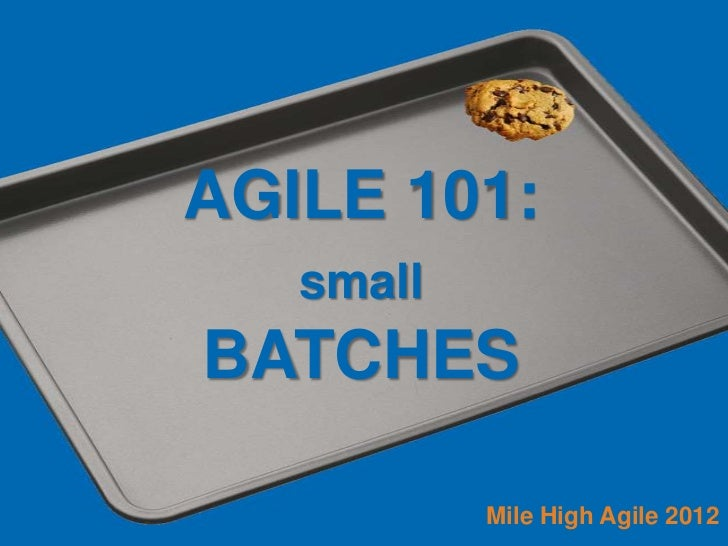 AGILE 101:   smallBATCHES           Mile High Agile 2012