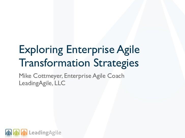 Enterprise Agile Transformation Strategies