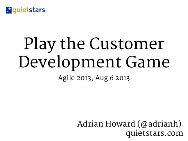 Play the Customer Development Game
