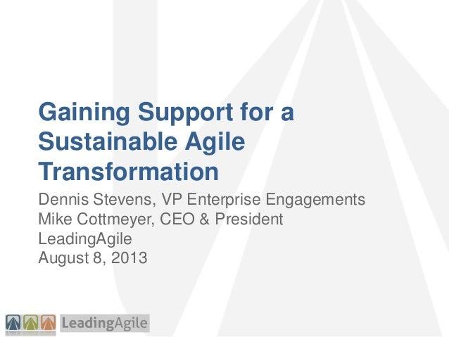Agile2013 sustainable change