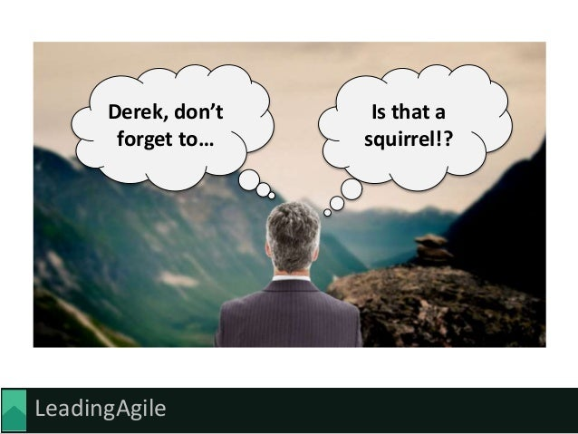 LeadingAgile Is that a squirrel!? Derek, don't forget to…