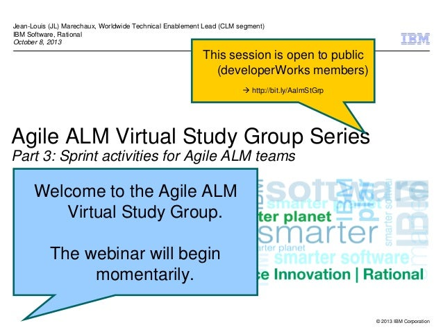 Agile ALM Virtual Study Session 3 - Sprint activities