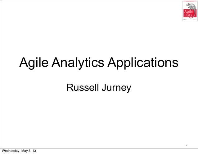 Agile analytics applications on hadoop