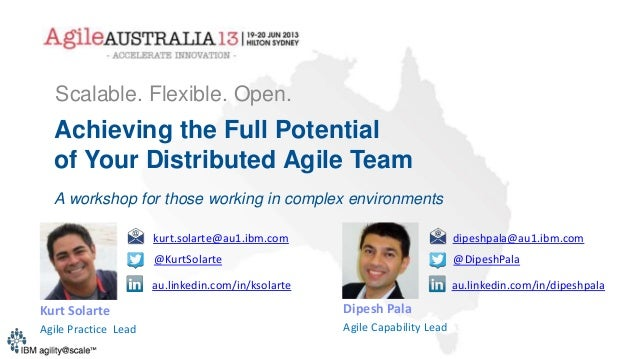 Achieving the Full Potential of Your Distributed Agile Team A workshop for those working in complex environments Scalable....