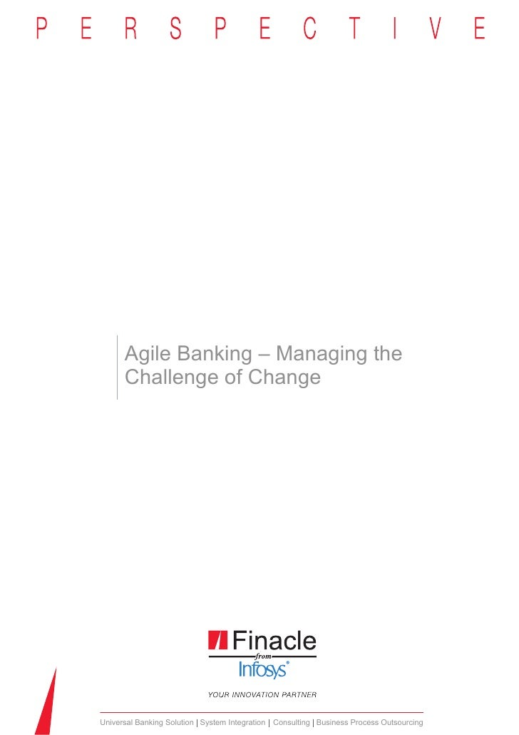 Agile banking managing