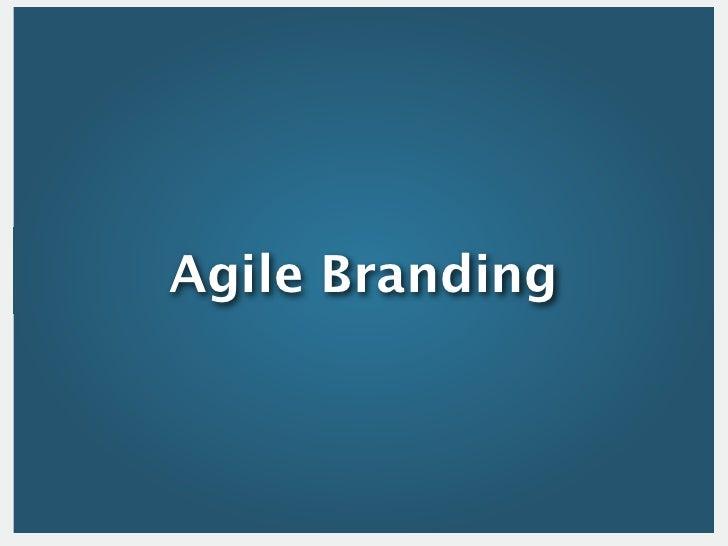 Agile Branding