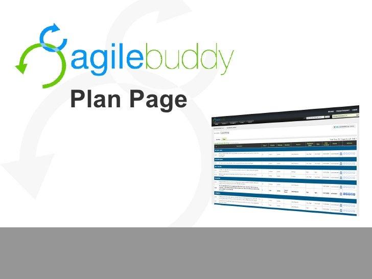 Agilebuddy Tour: Plan Page