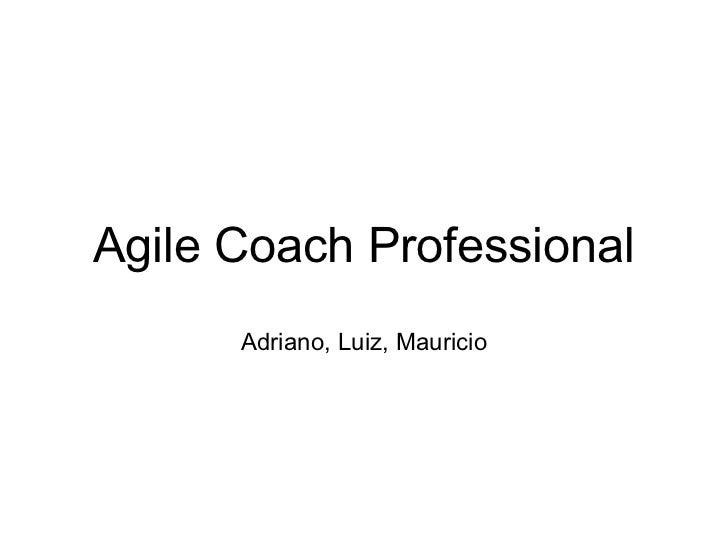 Agile Coach Professional      Adriano, Luiz, Mauricio