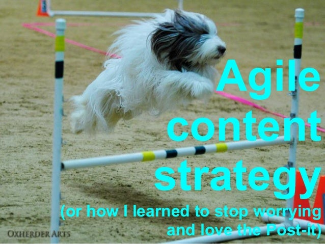 Agile             content            strategy(or how I learned to stop worrying               and love the Post-it)
