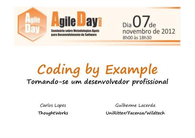 AgileDay2012 - Resumo Coding By Example