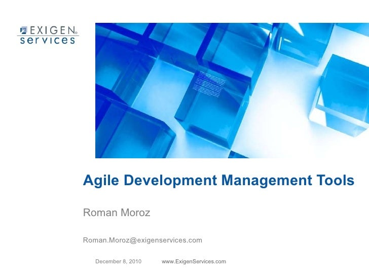 Agile Development Management Tools webinar presentation