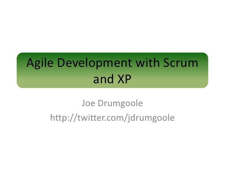 Agile development using SCRUM