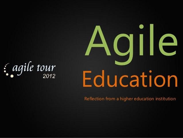 Agile Education
