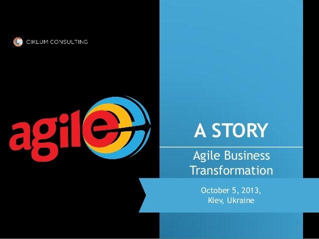 """Agileee 2013: Yuri Lapin """"Agile Business Transformation"""""""