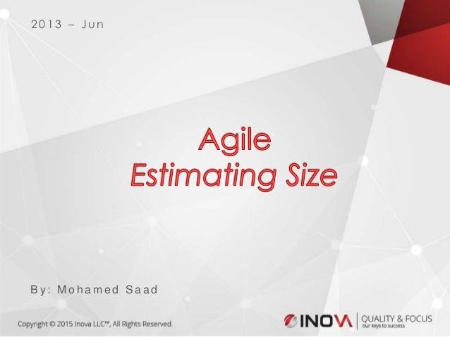 Agile estimate size