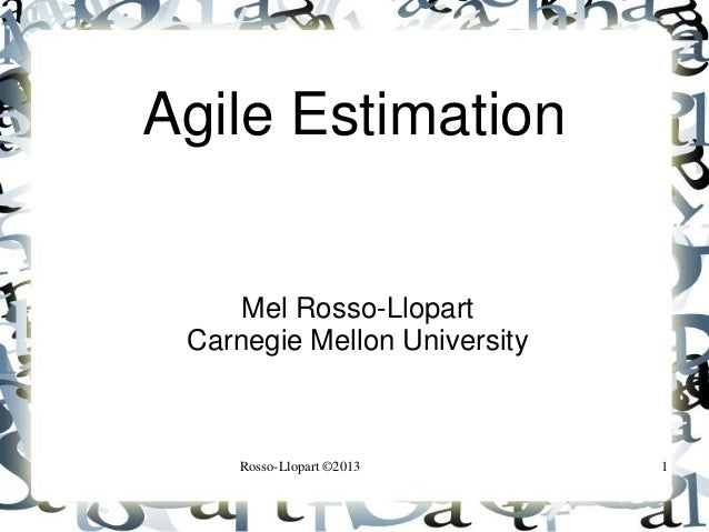 Agile estimation 1_Мел Росс