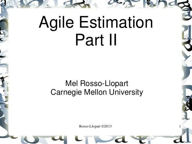 Agile estimation 2_Мел Росс