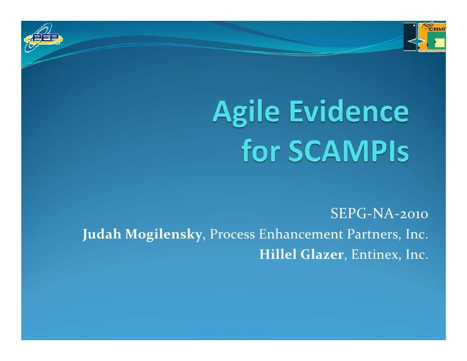 Agile Evidence For CMMI SCAMPI