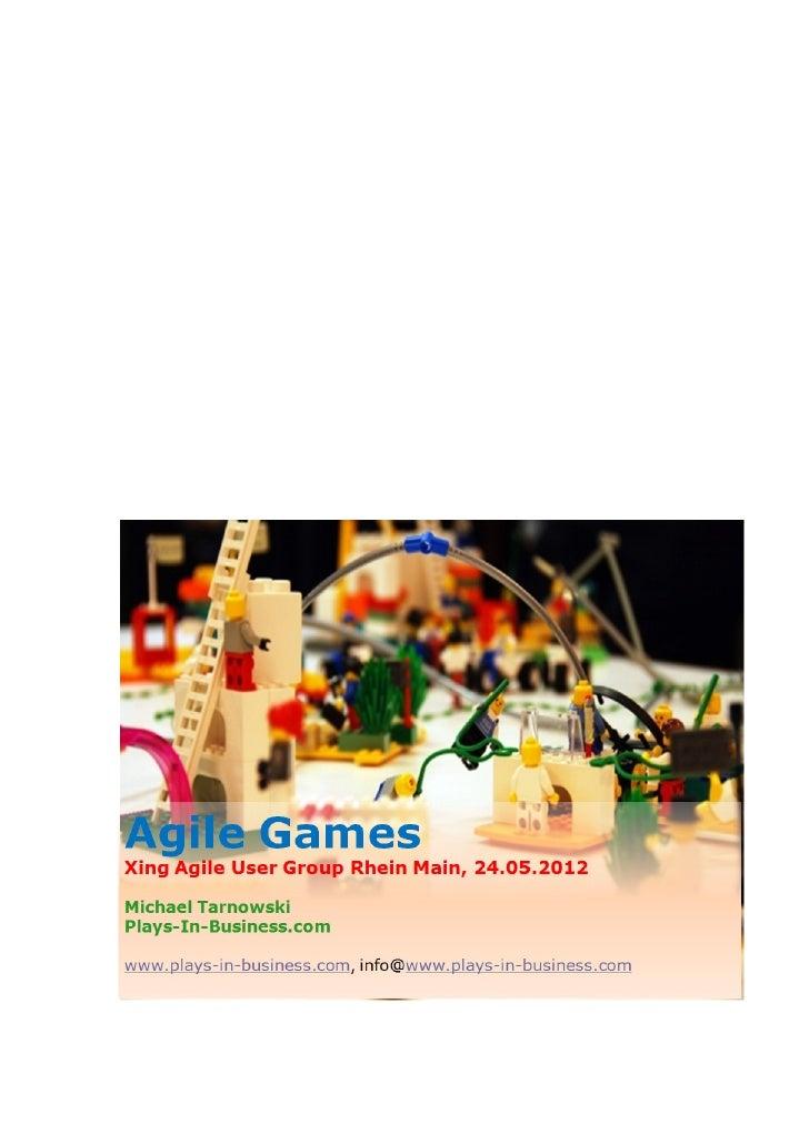 Xing User Group Agile Rhein-Main. Agile Games Evening